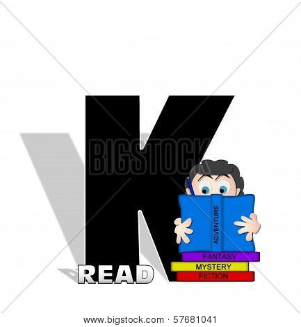 Alphabet Absorbed In Reading K
