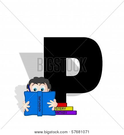 Alphabet Absorbed In Reading P