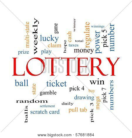 Lottery Word Cloud Concept