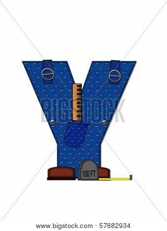 Alphabet Carpenter Tools Y