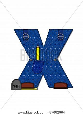 Alphabet Carpenter Tools X