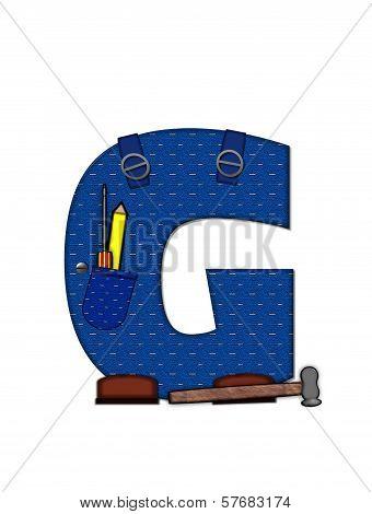 Alphabet Carpenter Tools G