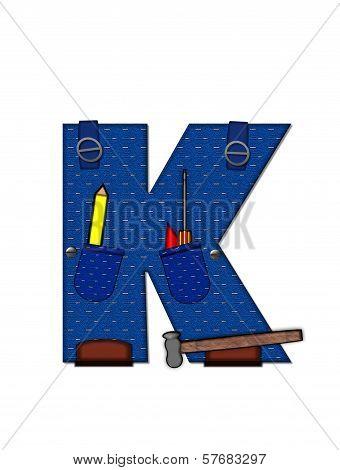 Alphabet Carpenter Tools K
