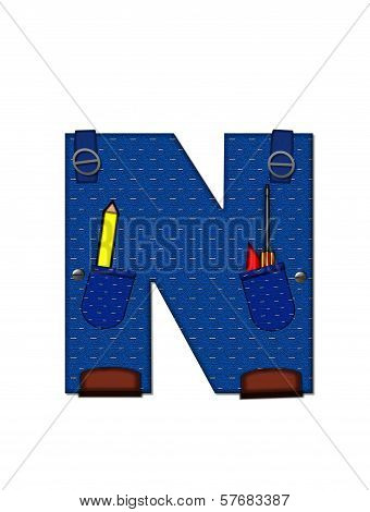 Alphabet Carpenter Tools N