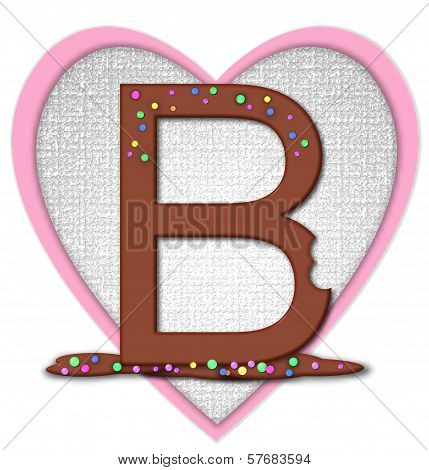 Alphabet Chocolate Bar B