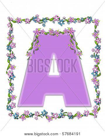 Alphabet Daisy Fair Lilac A