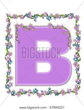 Alphabet Daisy Fair Lilac B