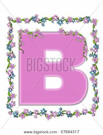 Alphabet Daisy Fair Pink B