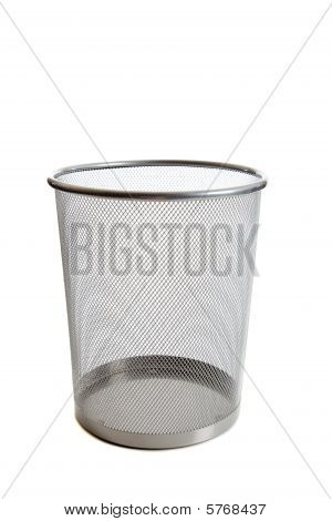 Empty Mesh Wastebasket