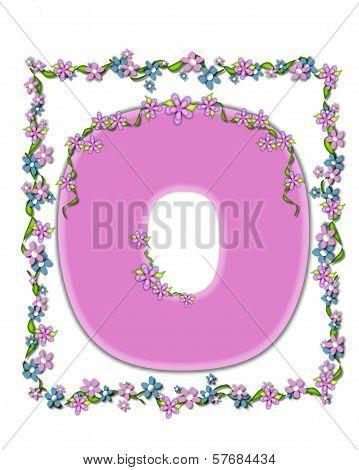 Alphabet Daisy Fair Pink O