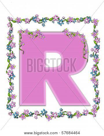 Alphabet Daisy Fair Pink R