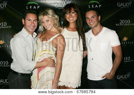 Todd Michael Krim and Lucy Rendler-Kaplan with Ashley Bent and Raoni Coelho  at the Reality Cares Leap Foundation Benefit. Sunstyle Tanning Studio, West Hollywood, CA. 08-06-09