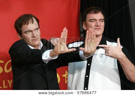 Quentin Tarantino at the Quentin Tarantino Wax Figure Unveiling. Madame Tussauds, Hollywood, CA. 08-07-09