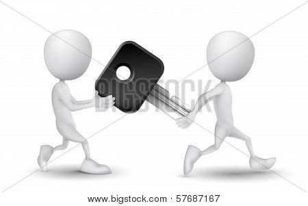Two People Carried A Car Key