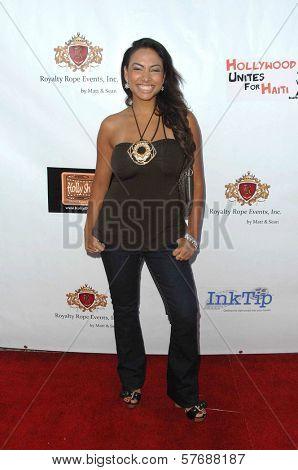 Nadia Dawn  at the Hollyshorts Haiti Charity VIP Webisode Celebration. Kress, Hollywood, CA. 08-08-09