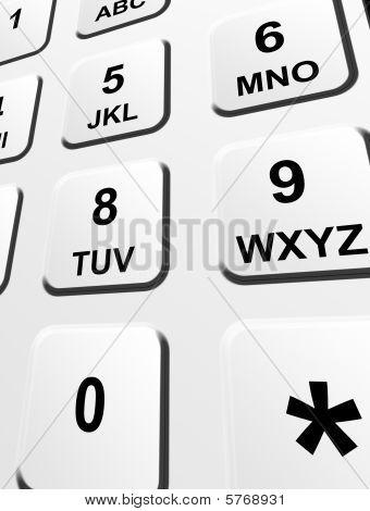 Zahlen Tastatur