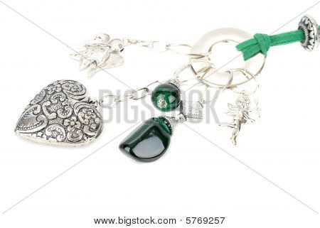 Valentines silver pendant.