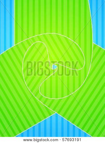 Greenish blue design presentation of business poster