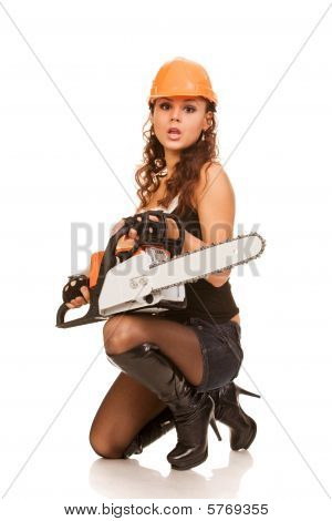 Sexy Worker Woman