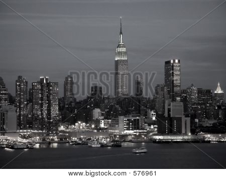 New York Skyline Bw