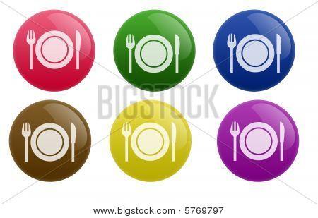Glossy Restaurant Button