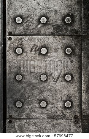 Black Grunge Metal Plate As Background