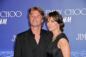 Harry Hamlin and Lisa Rinna at the Jimmy Choo For H&M Collection, Private Location, Los Angeles, CA.
