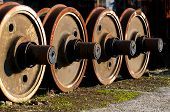 picture of train-wheel  - old rusty wheels of a train locomotives wheels - JPG