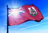 Bermuda flag waving on the wind