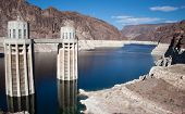 image of dam  - Hoover Dam Water Electricity Power Station USA