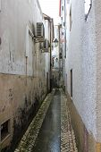 Narrow Alley in old Coimbra Portugal