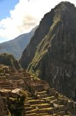 stock photo of old spanish trail  - Detail ruins of Machu Picchu - JPG