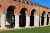 image of arsenal  - View of Arsenale columns in Venice Italy - JPG
