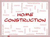stock photo of girder  - Home Construction Word Cloud Concept on a Whiteboard with great terms such as new building permits money and more - JPG