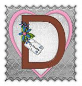 picture of letter d  - The letter D in the alphabet set  - JPG
