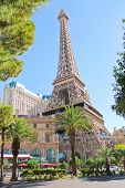 Paris Hotel In Las Vegas With A Replica Of The Eiffel Tower.