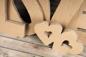 picture of v-day  - heart hearts two hearts Valentine - JPG