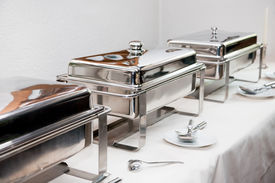 pic of chafing  - Chafing Dish made of stainless steel at buffet - JPG