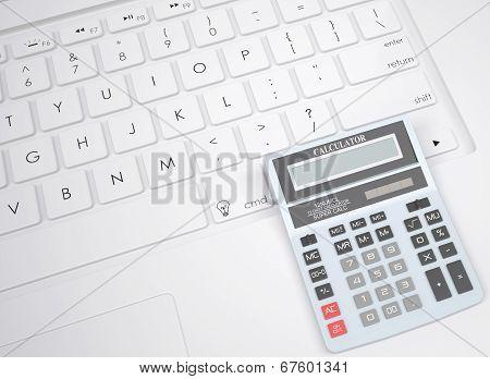 Calculator on the keyboard