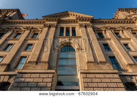 German Bundestag Side View