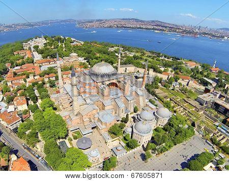 Hagia Sophia from air