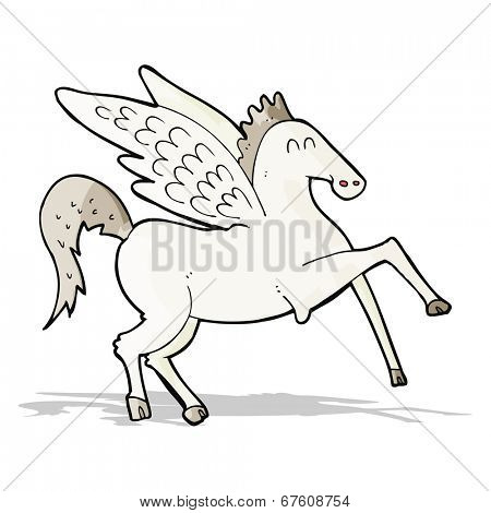 cartoon pegasus