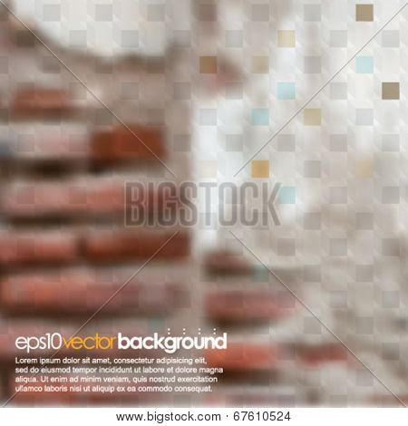 eps10 vector realistic blurred vintage wall background