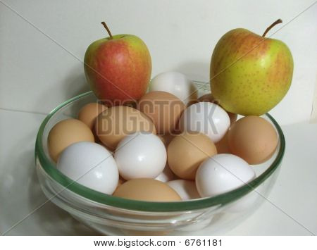 apples and eggs