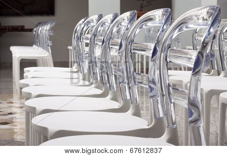 Rows Modern Plastic Designed Chairs