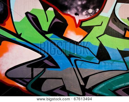 MELBOURNE, AUSTRALIA - JUNE 28 2014: Street art by unidentified artist. Melbourne's graffiti management plan recognises the importance of street art in a vibrant urban culture