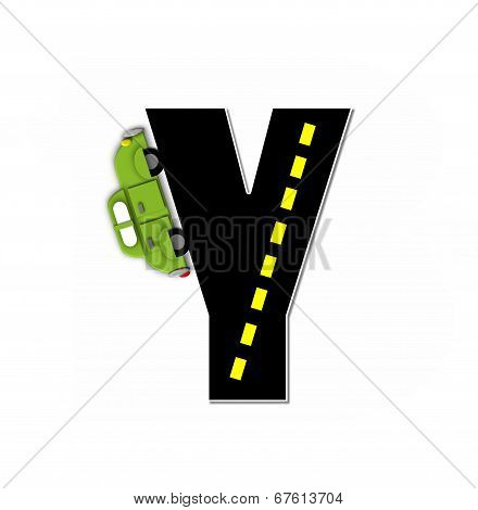 Alphabet Transportation By Road Y