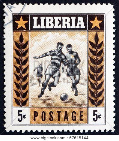 Postage Stamp Liberia 1955 Soccer, Sport