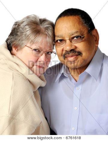 Biracial Senior Couple