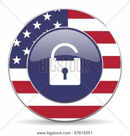 padlock american icon